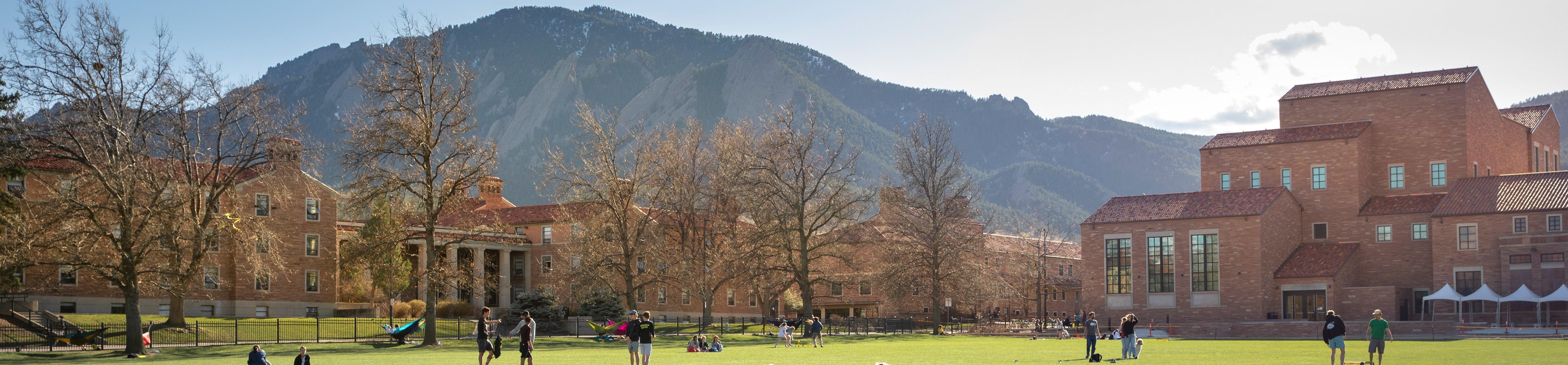 Students sitting on quad