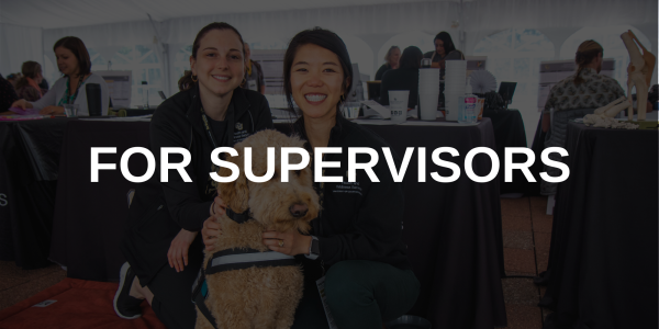 "Text overlaid on an image that says ""For supervisors"""