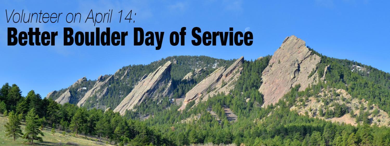 Volunteer on April 14 for Better Boulder Day of Service