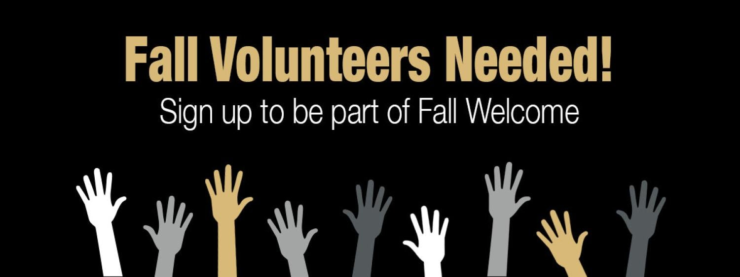 Volunteer for Fall Welcome