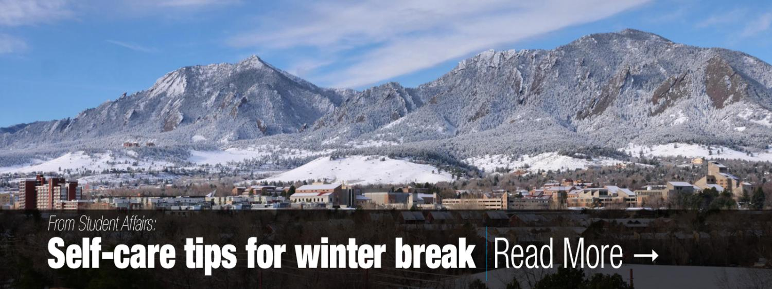 From Student Affairs: Self-care tips for winter break