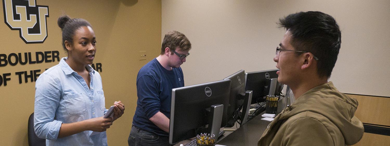 student employee working