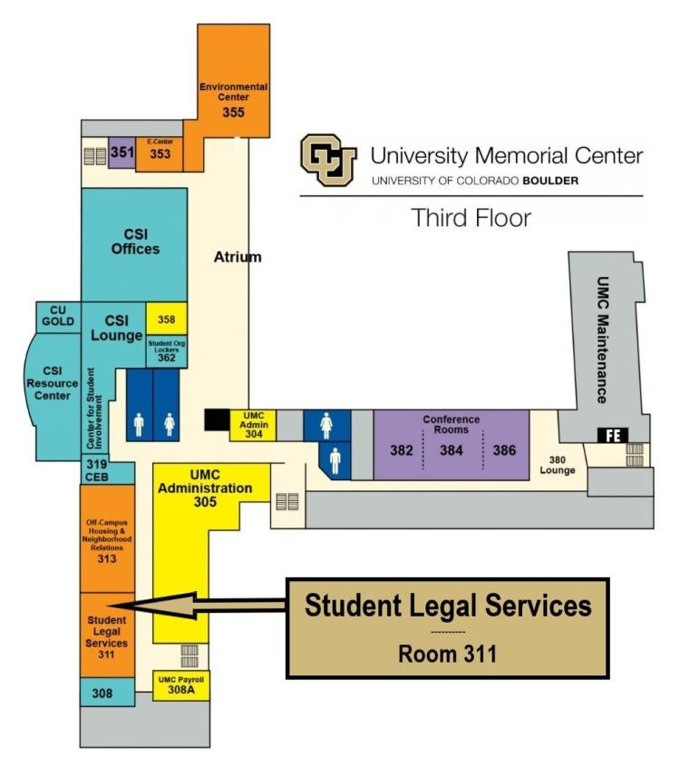 Map – If you need assistance with accessibility, please contact 303-492-6813
