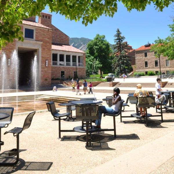 CU-Boulder campus in the summer
