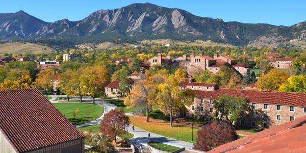View of CU Boulder campus