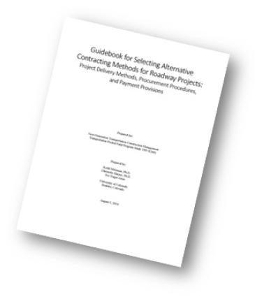 Alternative Contracting Methods Guidebook Cover