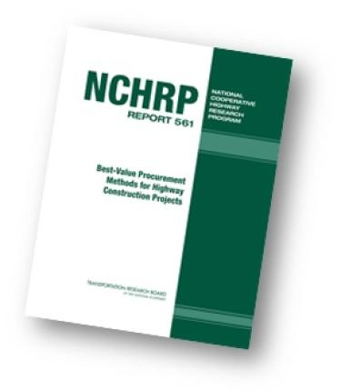 NCHRP Best-Value Report Cover