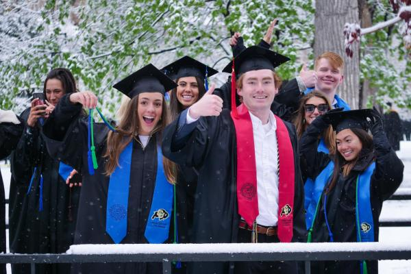 students graduating with honors at commencement