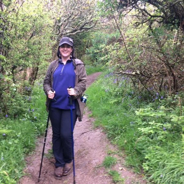Gillian Nogeire hiking in Cornwall