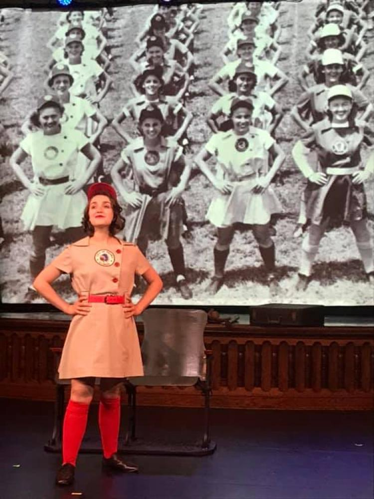 """AEA Performer Sarah Steward Chapin, in """"The Night They Lit Up Wrigley"""", July 2019"""