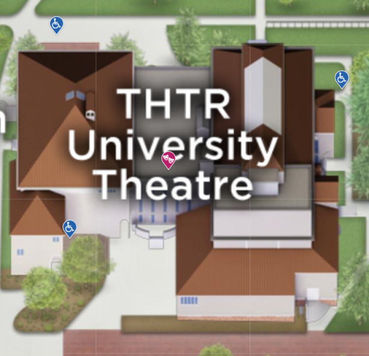 University Theatre Building Access points for accessibility
