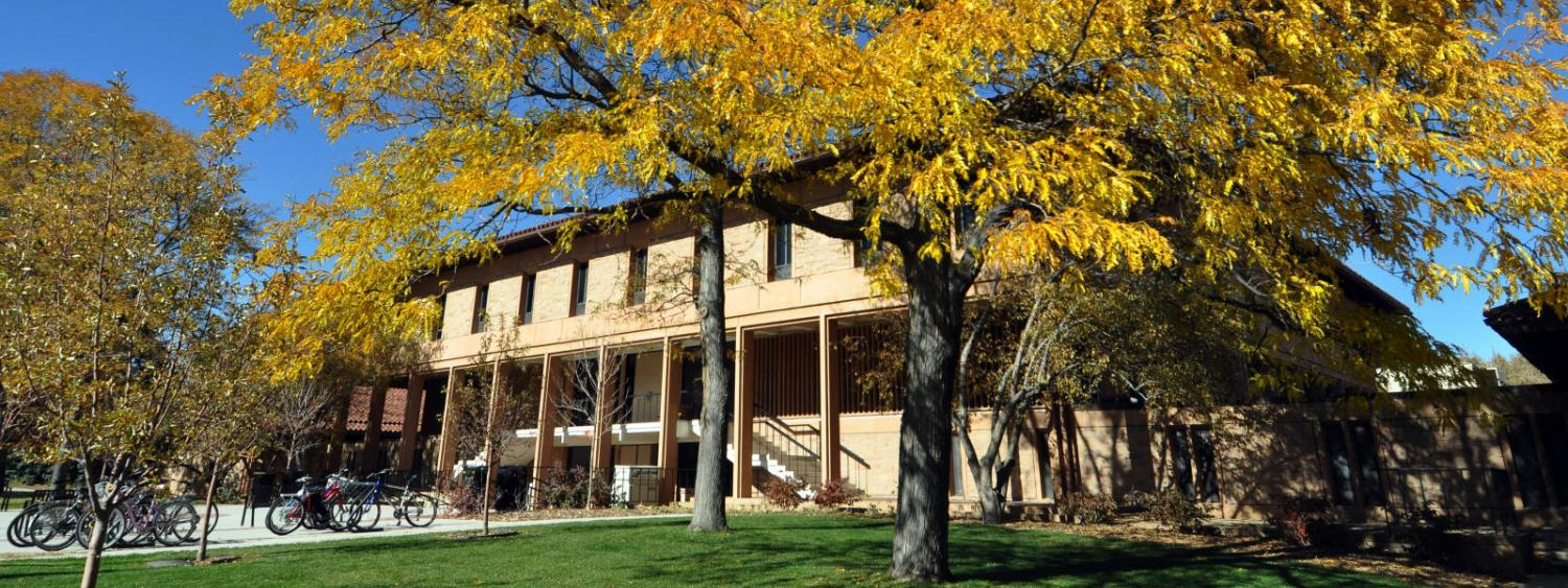 Regent Administrative Center building in the fall