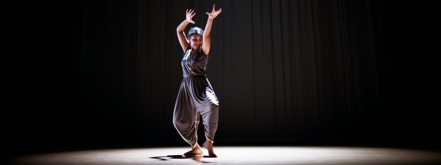 A dancer in a Classical Indian Dance pose