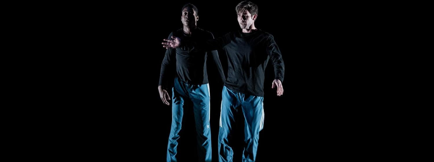 Two male dancers on stage