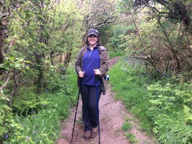 Gillian Nogeire hiking in Cornwall