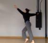 Meg Madorin in motion blurred action shot