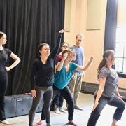CU Boulder Playback Ensemble rehearses for workshops