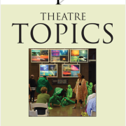 Theatre Topics cover page with students dressed in green like plants