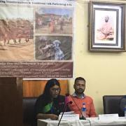 Jashodhara Sen presenting