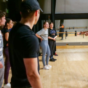 Larry Southall teaches hip-hop class
