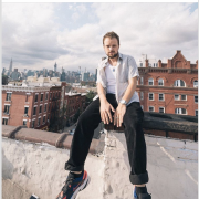 Rapper Nelson Dialect on Rooftop in Brooklyn