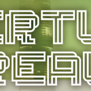 Title Virtue of Reality written out in Maze Font