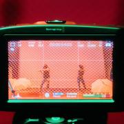 Camera filming dancers