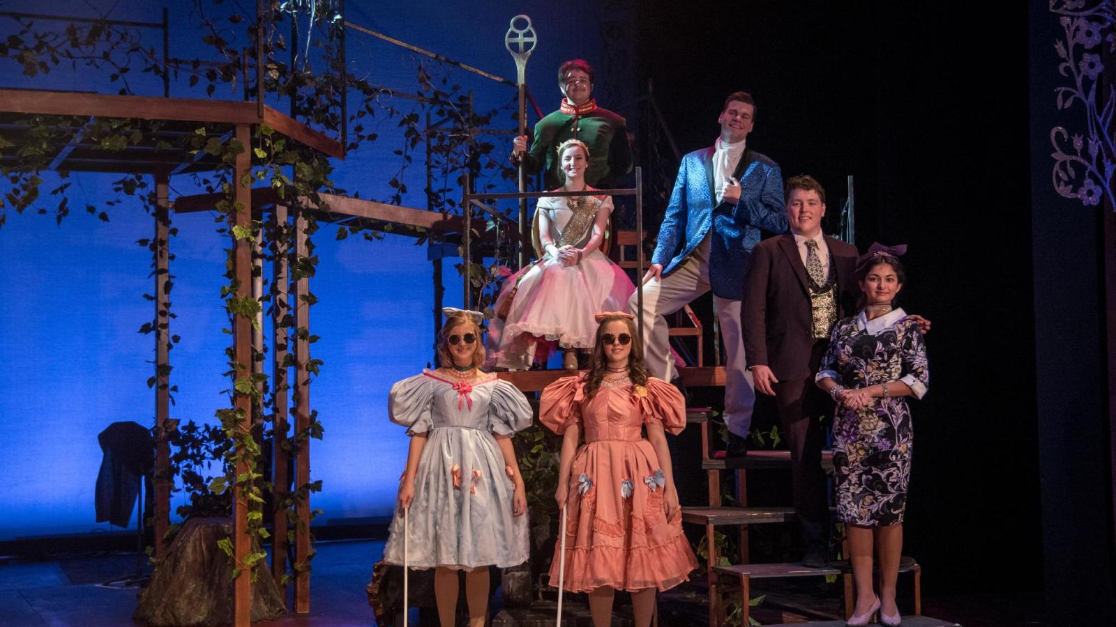 Student actors perform Into the Woods