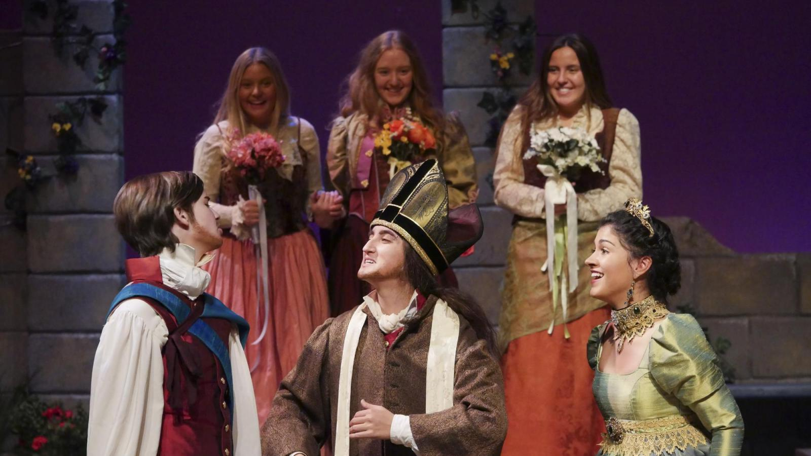 students performing Shakespeare's Twelfth Night