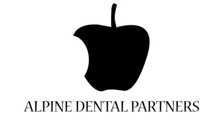 Student-produced logo for dentist, which looks uncannily like the Apple logo