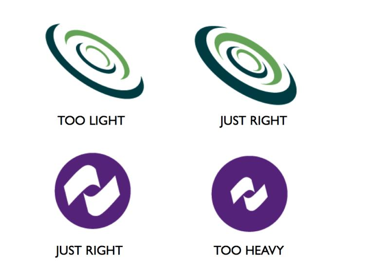 A comparative look at the density of logo elements