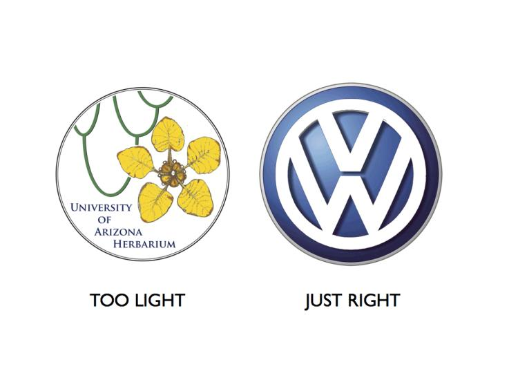 """A comparative look at the """"punch"""" of finished logos"""