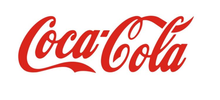 The Coca Cola logo, which is a simple text solution