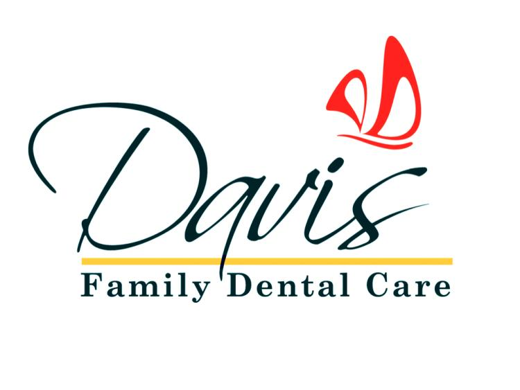 A dentist's logo, rendered in red and yellow