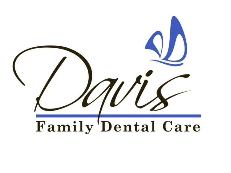 A dentist's logo, rendered in blue