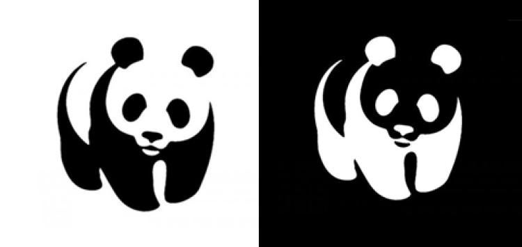 A look at the positive and negative space in the World Wildife Fund logo