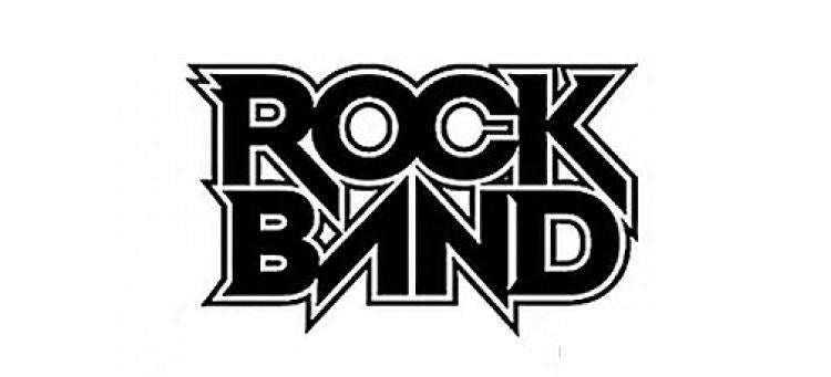 The Rockband logo, with sharp angles reflecting the feel of rock music