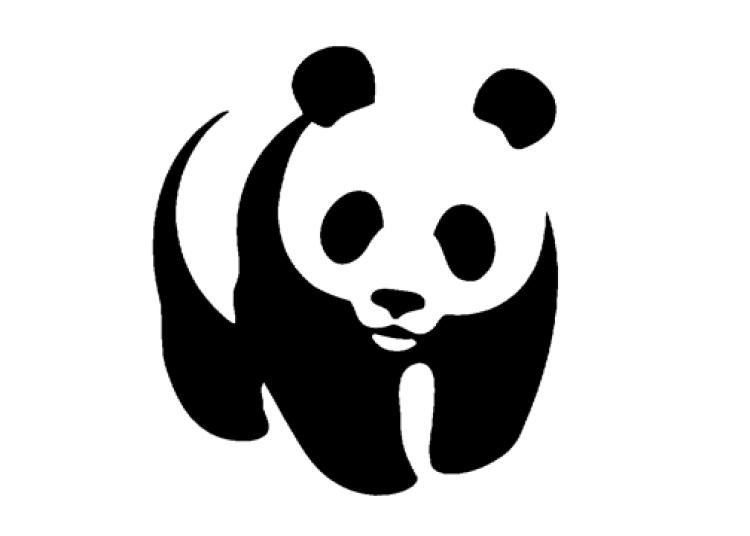 Pictorial logo for World Wildlife Federation showing a stylized Panda
