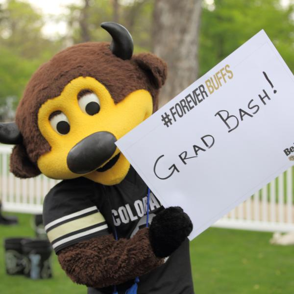chip having fun at the cu boulder herd event: grad bash