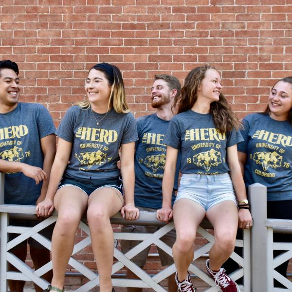5 Students in Herd Shirts