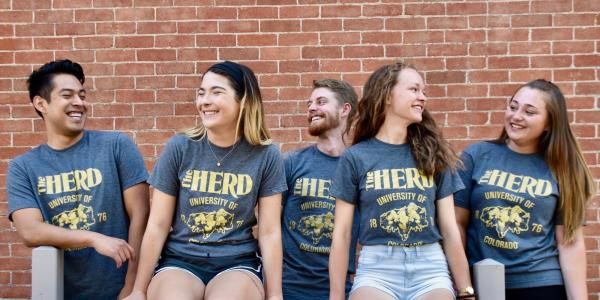 the herd students laughing