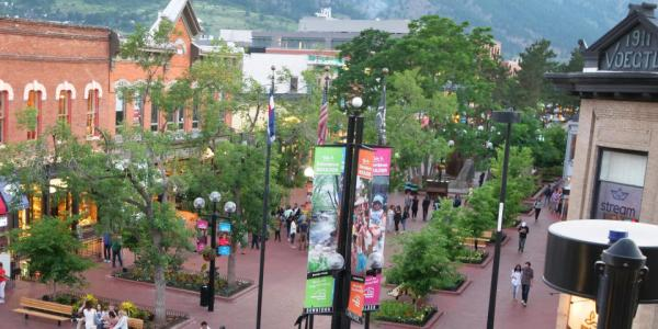 The Pearl Street Mall from above