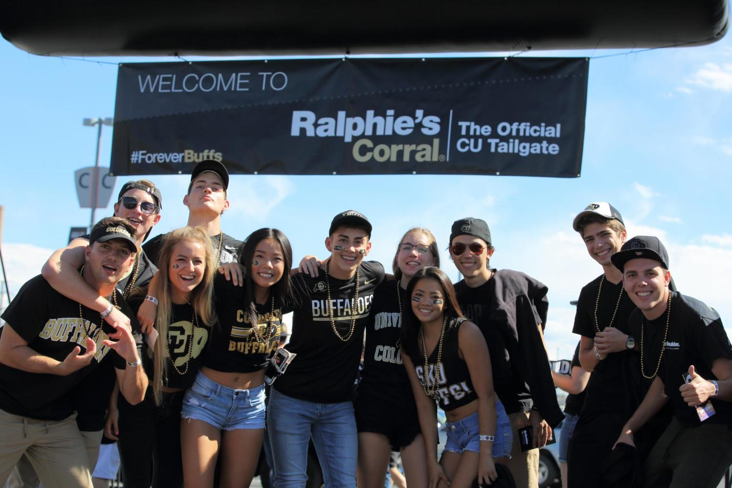 The herd university of colorado boulder university of colorado herd members at tailgate reheart Image collections
