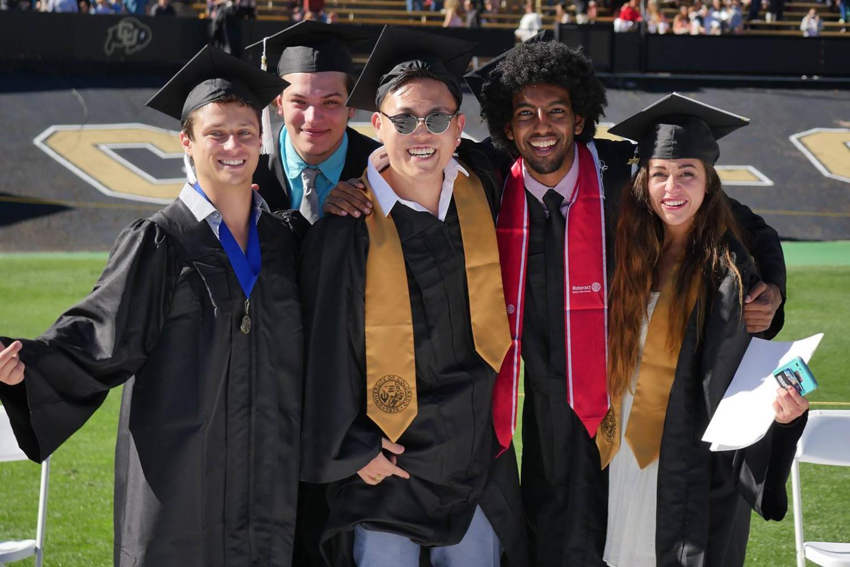 cu boulder students having a blast at graduation 2017