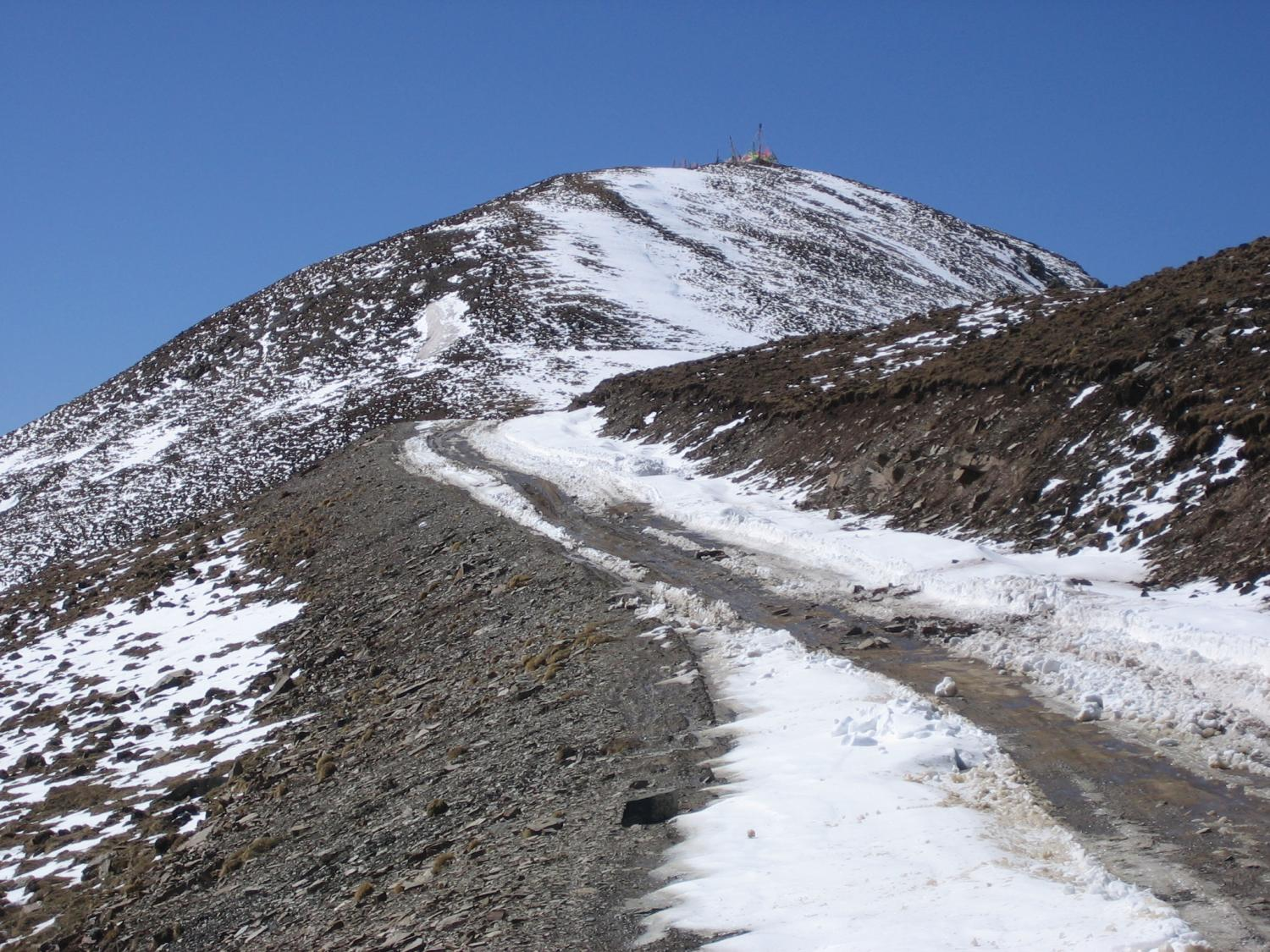 Mountain Pass on Road from Padma to Serta