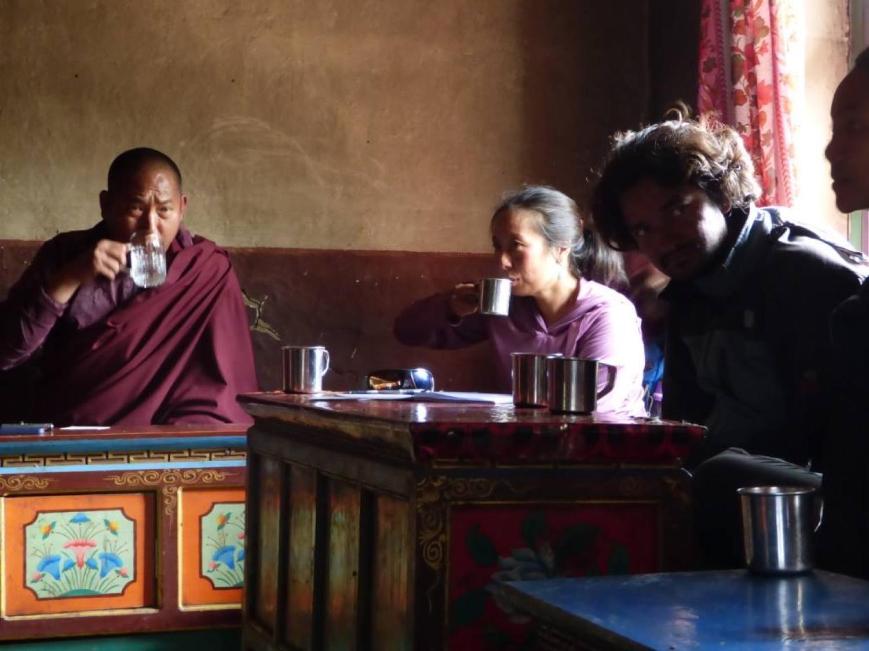 meeting at Yalbang monastery