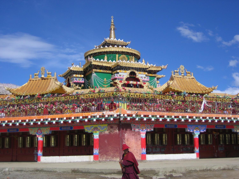 Jutrul Temple at Larung Gar