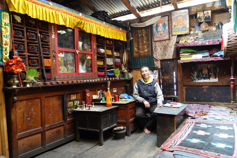 The Lama of Ghattekhola, a leader of the Tibetan exile community in upper Rasuwa