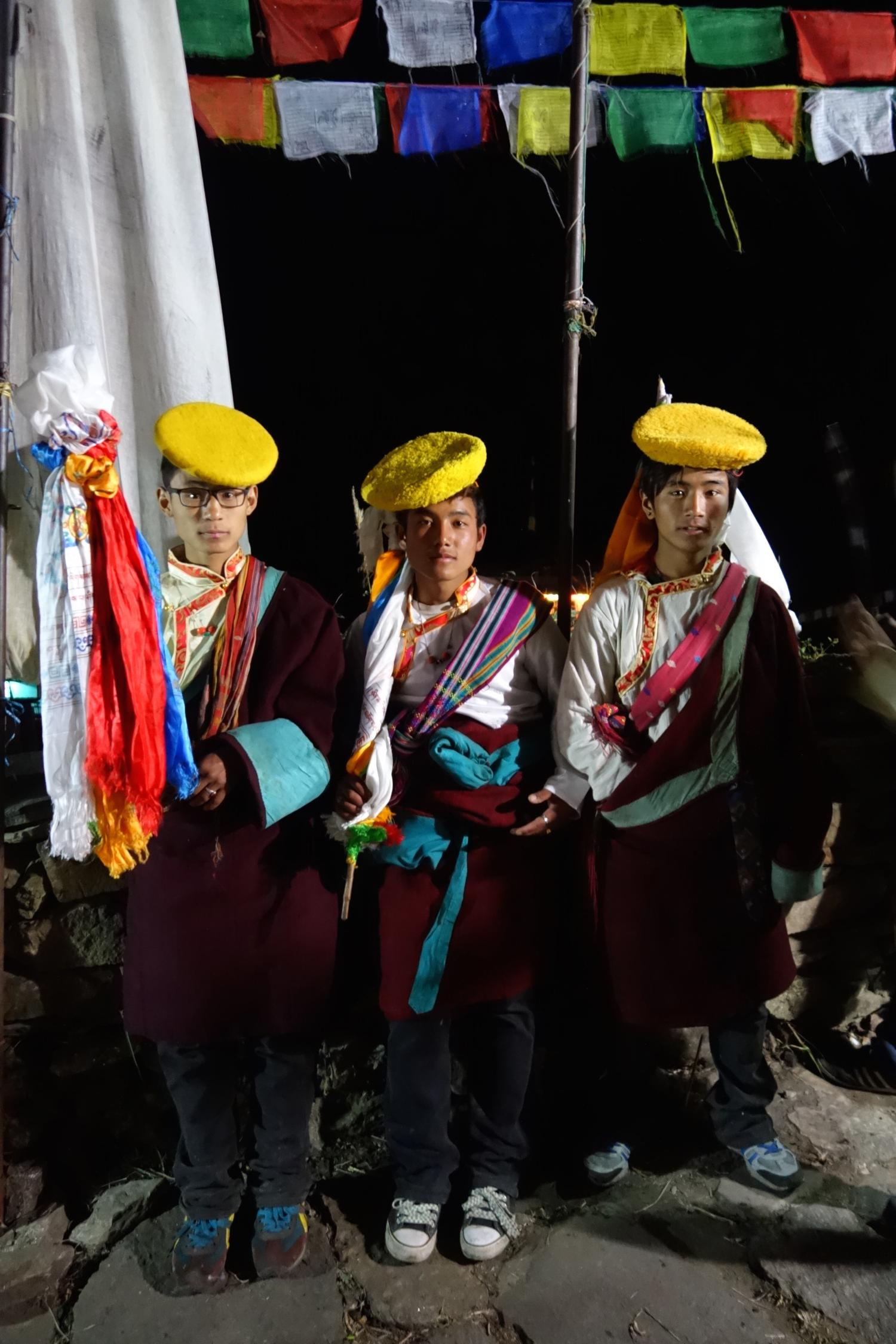 Tamang youth in traditional Tibetan dress