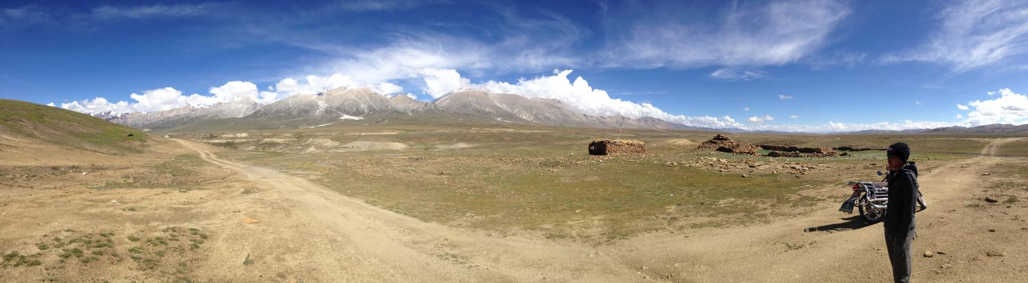 Representing the sensitivity and security of the Mustang-Tibet border, within minutes after taking this panorama atop the Kora-la, the Chinese Armed Police Force rapidly responded to these visitors' presence at the border